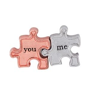 Origami Owl You and Me Puzzle Piece Charms